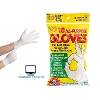 POLIRUBRO   Guantes descartables x 10 unidades latex 0226