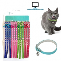 MASCOTAS   Collares  Para Gato C/Cascabel Blister x 12 Pet shop