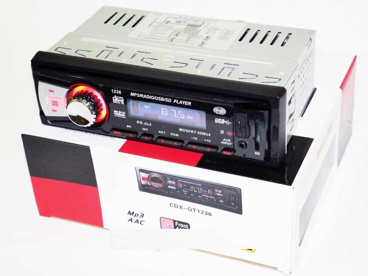 ELECTRONICA   Autoestereo CDX-GT1236 /CDX-4209-4208DEH-4206 MP3/USB/SD/X Bass 50 WX4