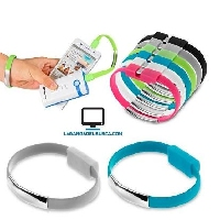 ELECTRONICA   Pulsera cable de datos IPhone usb unisex doble funcion novedad