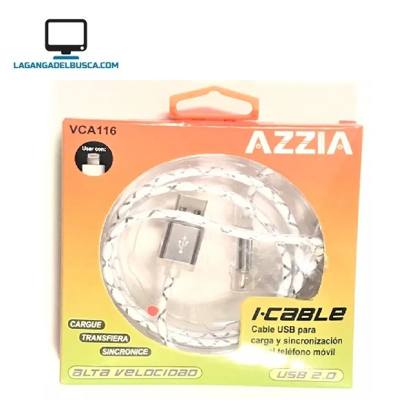 ELECTRONICA   Cable usb azzia para i phone 1mt  #50