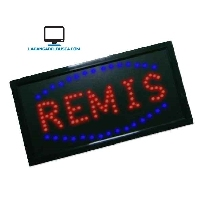 ELECTRONICA   Cartel luminoso con leds 30 cm x 50 cm REMIS