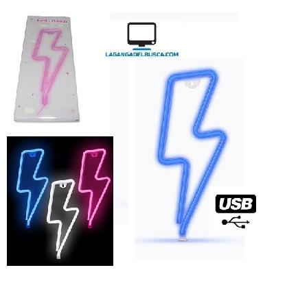 ELECTRONICA   Cartel luminoso RAYO 30 cm usb Neon