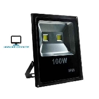 ELECTRONICA   Reflector Led 100w Doble Blanco Frio Exterior