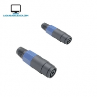 ELECTRONICA   Ficha Speakon Hembra A Cable 4 Pines  51342    ##