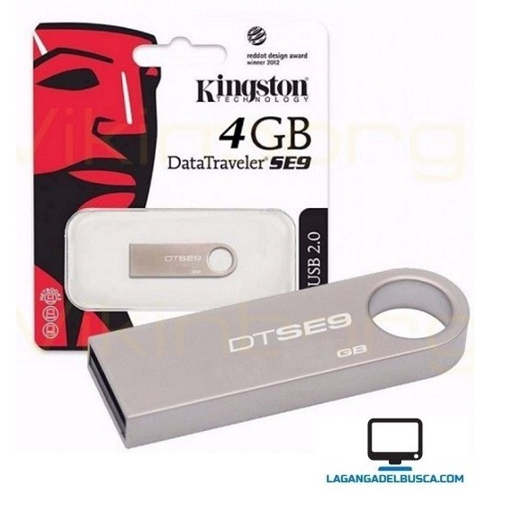 ELECTRONICA   Pendrive 4 GB Kingstom SE9 metal
