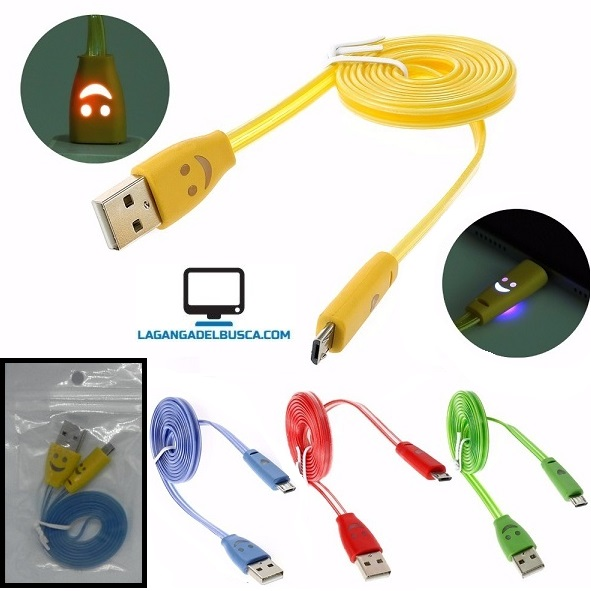 ELECTRONICA   Cable de datos luminoso USB V8 p/ Samsung / Motorola