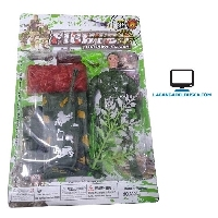 JUGUETERIA   Juguete Soldado Fighter fire Power clash con accesorios blister de 25 cm de alto