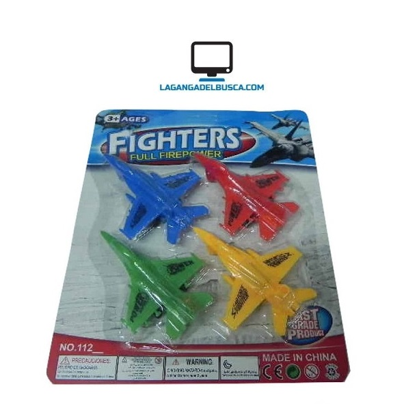 JUGUETERIA   Juguete avion x 4 Flighters 112 blister de 25 cm