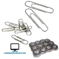 LIBRERIA   Clips metalico x 12 packs
