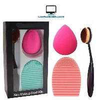 ESTETICA   Makeup Tools beauty blender + limpia brocha + brocha ovalada